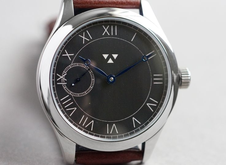 'The Classic' - I'm always trying to listen to what people are looking for and I've had many requests over the last year or so for a watch with roman numerals, so I thought I'd give it a go. This watch is hand wound with an oxidized copper dial with hand inlaid Super-Luminova pigment.