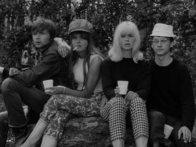 "Mikko Niskanen's movie ""Käpy selän alla"" (Under Your Skin, Libre Amour), 1966, was a tale of the sexual revolution of the sixties. Starring Eero Melasniemi, Kristiina Halkola, Kirsti Wallasvaara & Pekka Autiovuori."