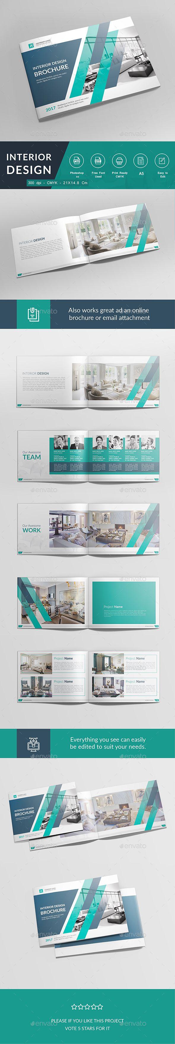 Interior Brochure Design Template PSD