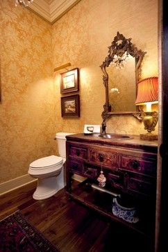 Traditional Home Rich Red And Gold Wallpaper Design, Pictures, Remodel, Decor and Ideas - page 4