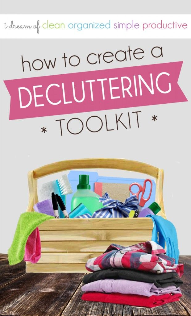 Got clutter? Want to simplify your stuff? It's time to create a decluttering toolkit!
