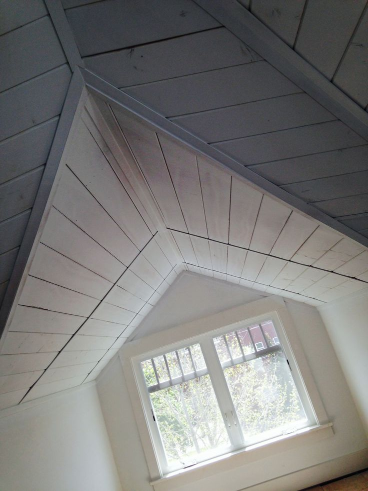 Painted Wood Ceiling Attic Dormer Addition Our Projects