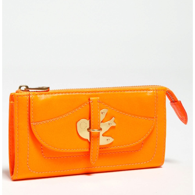 Marc by Marc Jacobs orange vintage-inspired wallet: Clutches Wallets, Clutches Fluoro, Orange Petals, Jacobs Orange, Orange 219 99, Marc Jacobs, Fluoro Orange, Jacobs Ptm, Metals Clutches