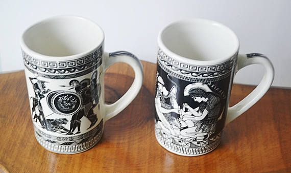 Check out this item in my Etsy shop https://www.etsy.com/ca/listing/574541961/greek-mugs-ceramic-black-and-white-mugs