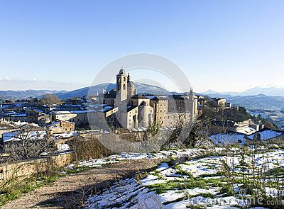 Urbino a very beautiful medieval town in italy