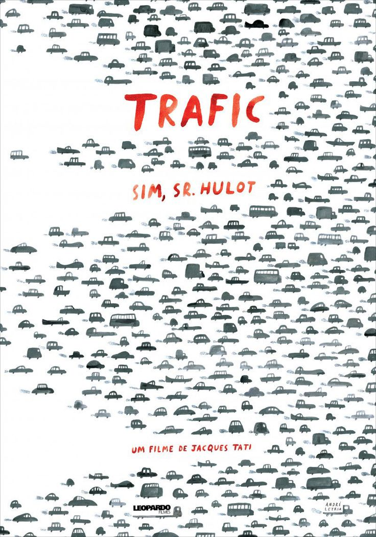 I came across a wonderful new poster the other day by Portuguese illustrator André Letria for Jacques Tati's 1971 comedy Trafic, which reminded me of how Tati,