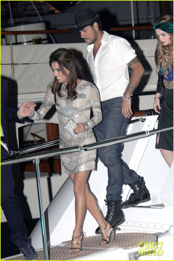 Eva and her beau Eduardo Cruz: Yacht Party in Cannes!