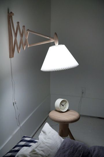Accordion Lamps for Bedside Lighting