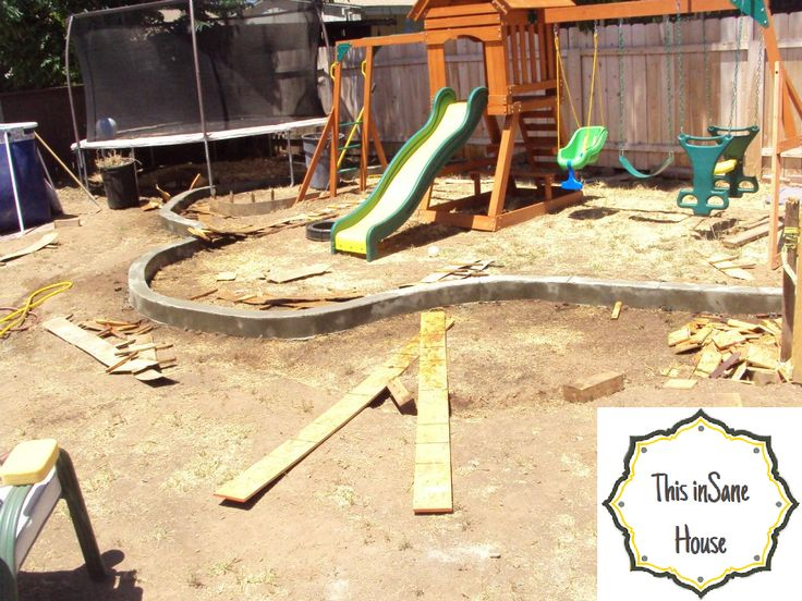 This inSane House: DIY Concrete Edger or Retaining Curb