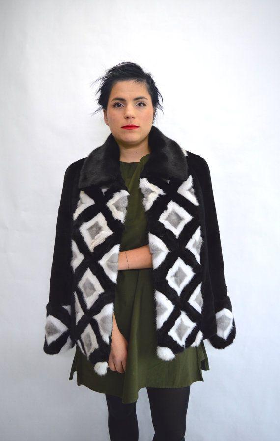 Real sheared mink fur coat black mink fur coat genuine by BeFur