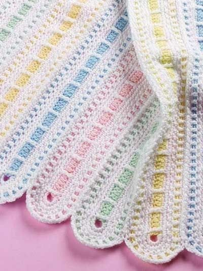 Really pretty baby afghan crochet pattern by CheechtheAwesome