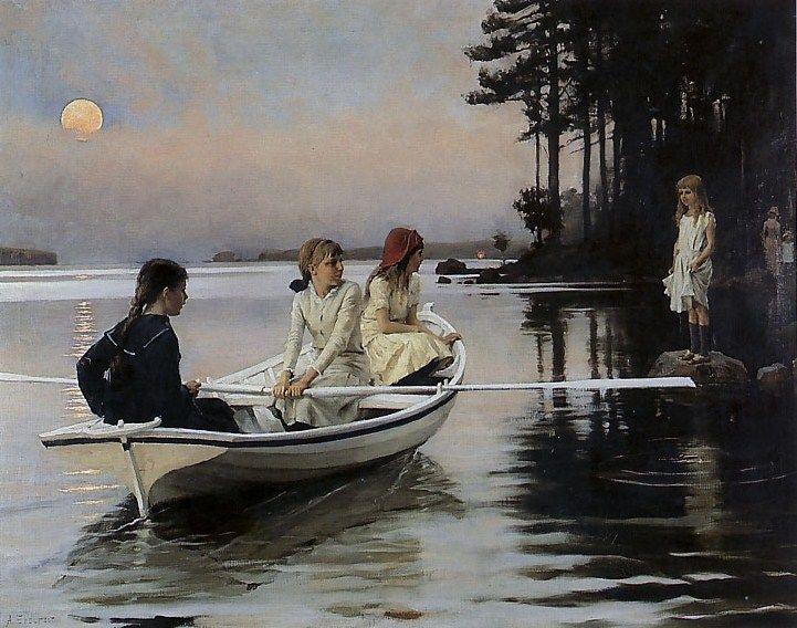 Kesäilta Summer evening Albert Edelfelt