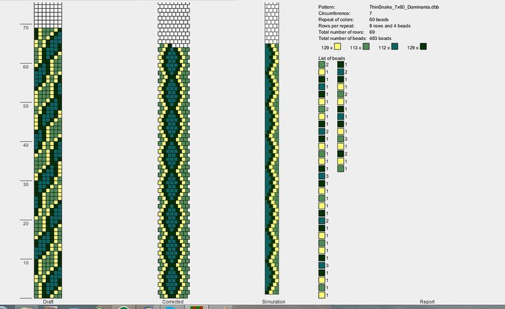 Bead crochet pattern, 7 around - p