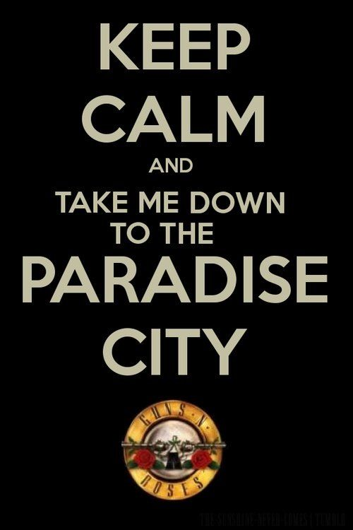 Guns N' Roses - Take Me Down To The Paradise City-where Axl is young and looks real pretty :)