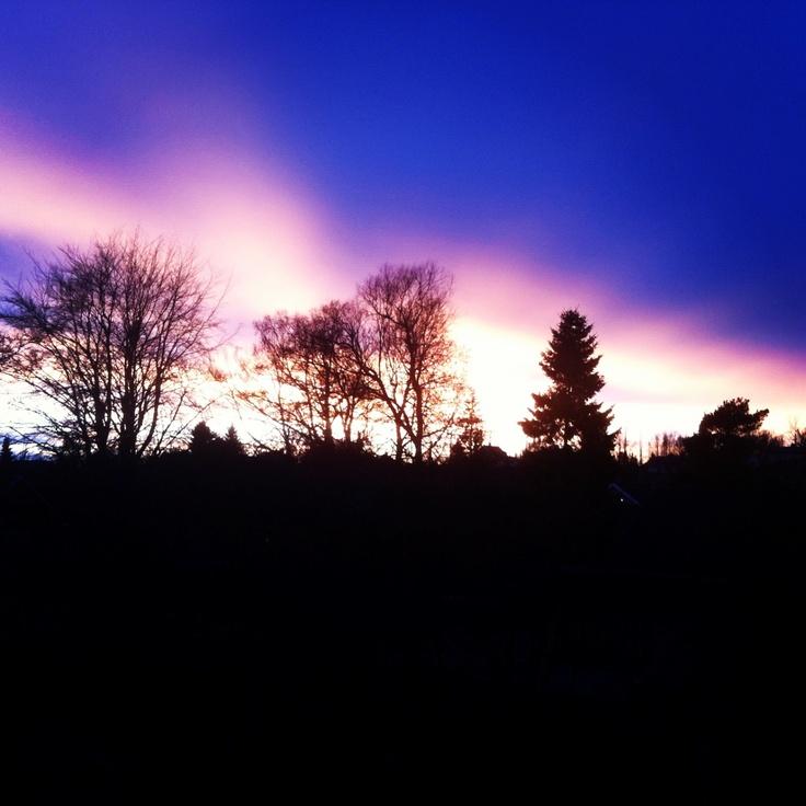Sunset in Verdal, Norway