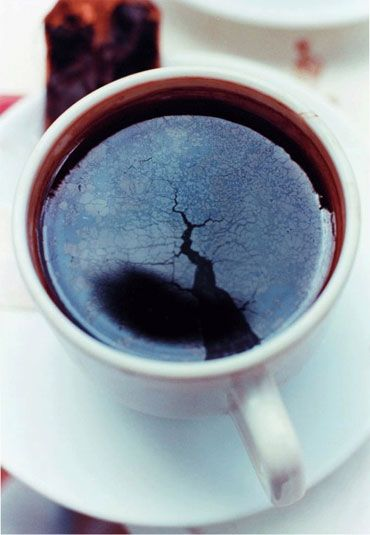 wolfgang tillmans 'chaos cup'....Spring/ stirs the cloud/ in the sky's teabowl..kikusha ni