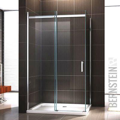 Duschkabine Duschabtrennung Dusche Schiebetür NANO ESG- Echtglas Glas ESG-GLAS
