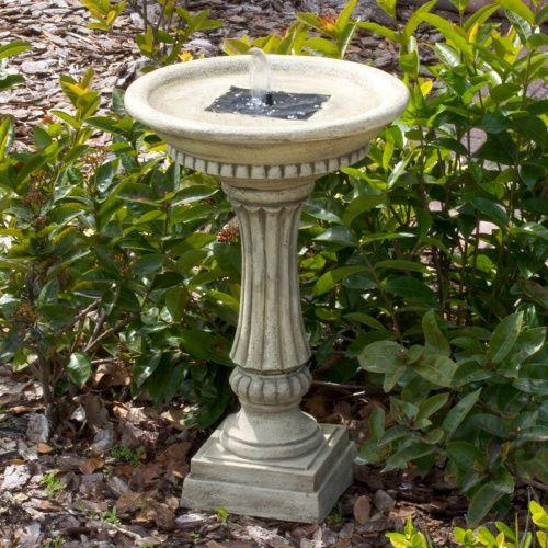 smart solar ashbourne solar outdoor bird bath fountain bird baths at hayneedle on demand - Solar Water Fountain