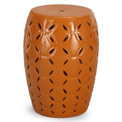 Homebeez Round Ceramic Garden Stool Finish: Yellow