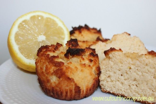 lemon and coconut muffins