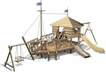 Деревянная детская площадка Classic 7 ( 6-14 лет)