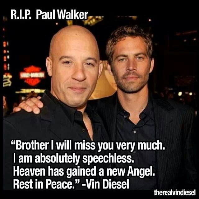Vin Diesel mourns his costar Paul over Twitter