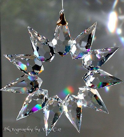 Suncatchers | Handcrafted 55mm Bohemian Crystal Prism Star Suncatcher Ornament ...