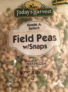 RECIPE FOR SOUTHERN FIELD PEAS WITH ONIONS, PEPPERS, & BACON Down south we call them Black Eyed Peas, but the fancy schmancy name is Field Peas. I like to be fancy schmancy. Technically they&#8…