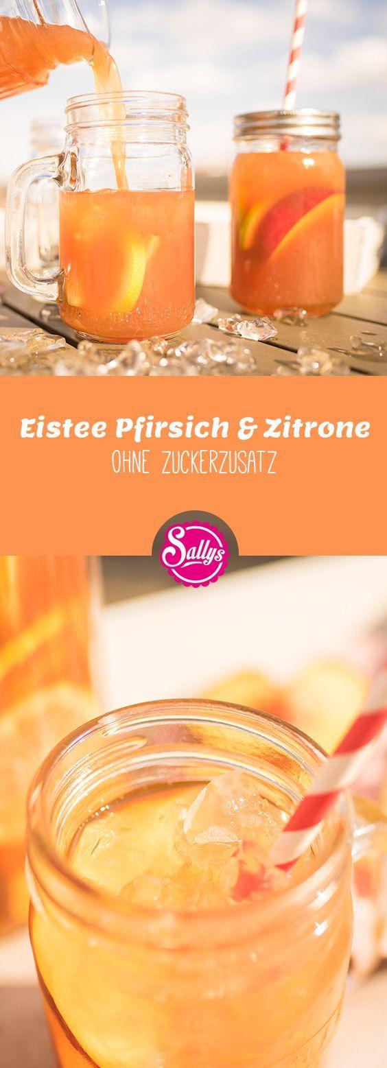 Erfrischender Eistee mit Schwarztee und Pfirsich oder Zitrone. Einfach selbst gemacht ohne Zuckerzusatz. #eistee – Susi J.