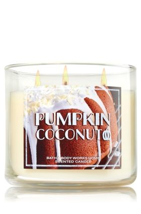 Pumpkin Coconut 3-Wick Candle - Enjoy a fall treat with a touch of the tropics: toasted coconut, spiced pumpkin puree & vanilla