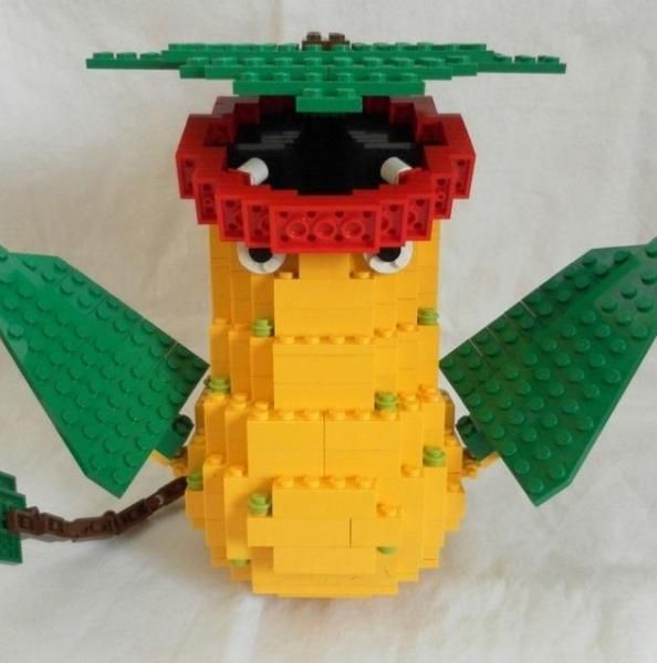 Victreebel made out of Lego bricks.