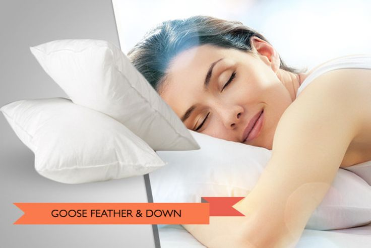 1, 2 or 4 Goose Feather & Down Pillows