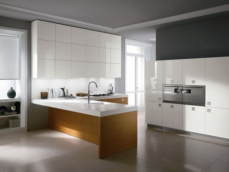 Lacquered oak kitchen with handles SILVERBOX HIGH CLASSIC Silverbox Collection by ERNESTOMEDA | design Pietro Arosio