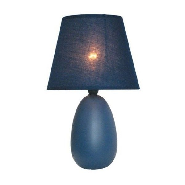 Simple designs table lamp 9 5h in blue 16 ❤ liked on polyvore