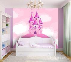 fotobehang prinses kasteel  een sprookjes slaapkamer