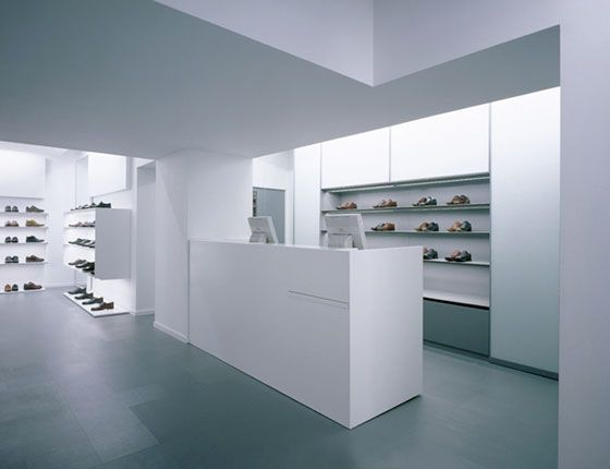 White And Grey Minimal Store By English Architects Found Associates _