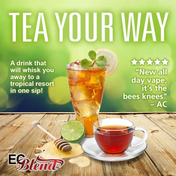 Tea Your Way! The best way to create your own custom tea flavored E-Liquid, so many possibilities!   #ecblend #vape #vapers #vapelife #vapenation #vapefam #vaping #vapeon #eliquid #ejuice #cloudchaser #ecig #subohm
