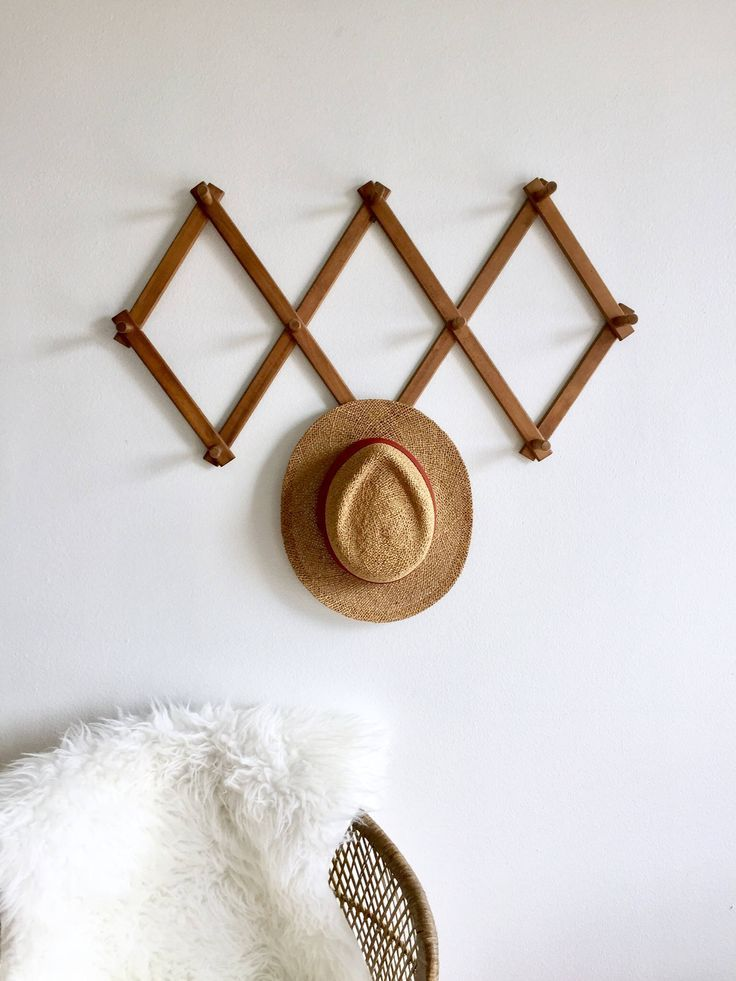 30 Trendy Hat Rack Ideas In 2021 A, Accordion Style Wall Coat Rack