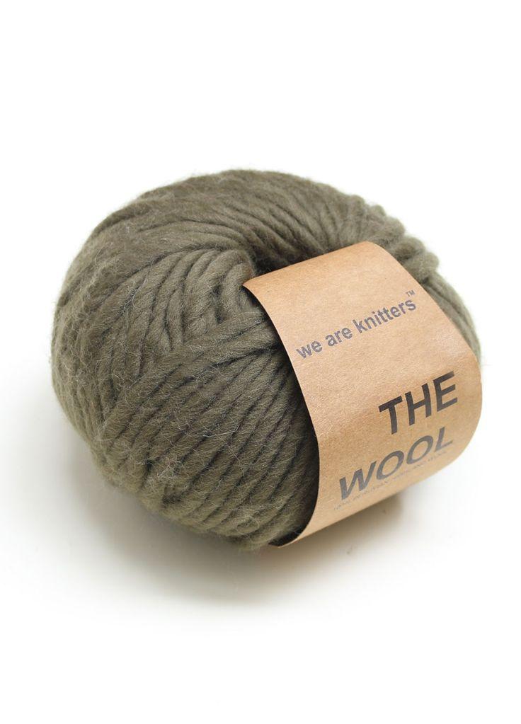 Wool Yarn Balls Knitting Olive