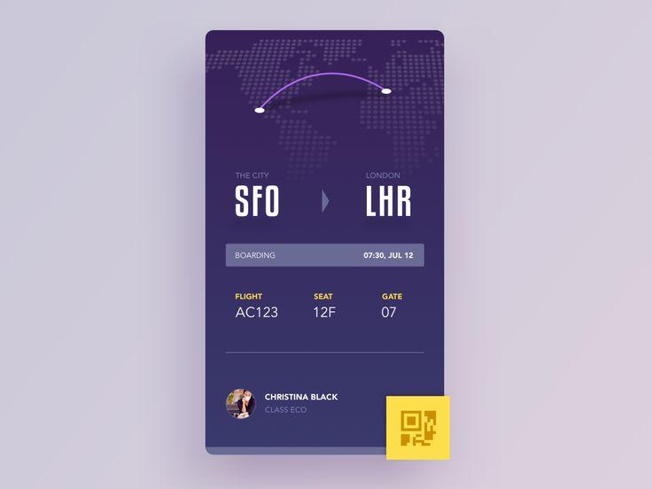 Mobile Design Inspiration - Boaring Pass by Aurélien Salomon — The Best iPhone...
