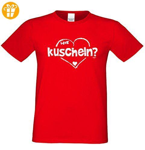 Geburtstagsgeschenk für Ihren Liebsten T-Shirt Geschenkidee Geburtstag kuscheln Vatertag Übergröße Liebe Herren Farbe: rot Gr: S (*Partner-Link)