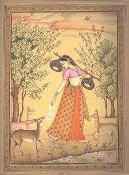 Ragamala Painting: Ragini Todi, wife of Raga Malkauns