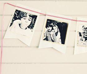 Die Kunst, den Alltag zu feiern...: DIY Foto-Wimpelkette