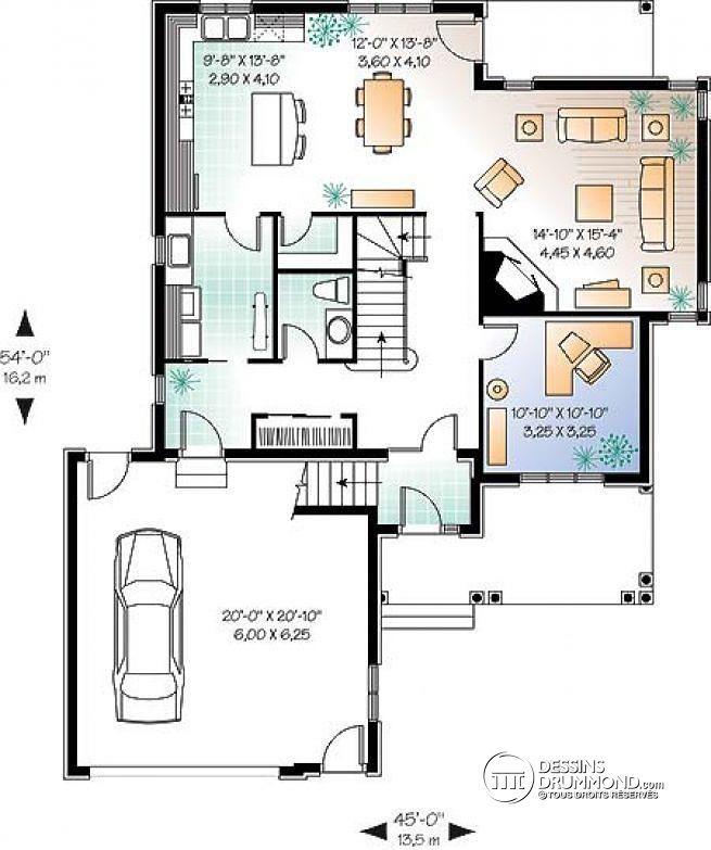 les 25 meilleures idées de la catégorie plans de maison à 6