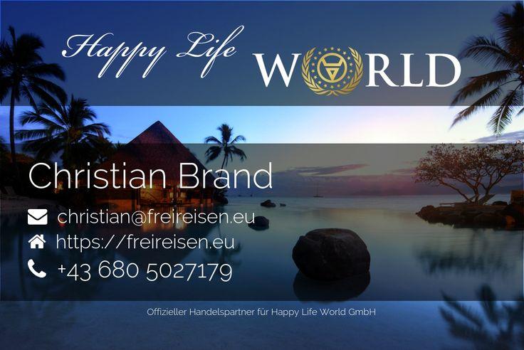 Visitenkarte von Christian Brand als offizieller Handelspartner von Happy Life World
