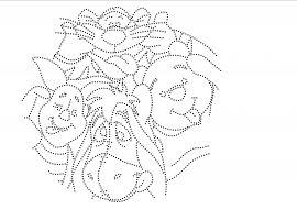 Winnie de Poeh gekke bekken trekken | 01/31-10-2013 | glittermotifs