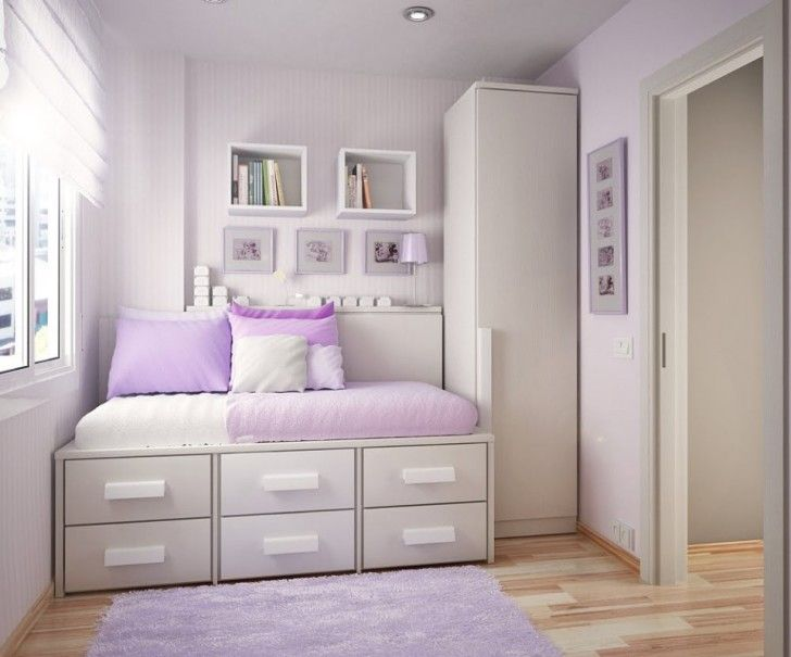 Finding the Most Popular and Cool Teenage Room Designs Nowadays: Enchanting Purple Girls Bedroom Ideas Furniture Deluxe Teenage Bedroom Furniture Design With Drawers Under Bed And Cute Purple Mat And Cool White Shelves ~ workdon.com Teen Room Designs Inspiration