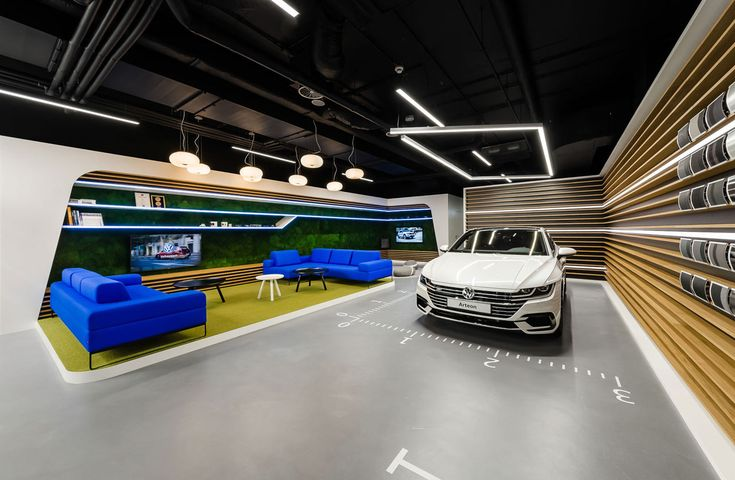mode:lina:tm: Designs a New Volkswagen Showroom for Polish Market