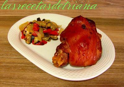 Las recetas de Triana: Codillo (Veprové koleno) con verduras asadas