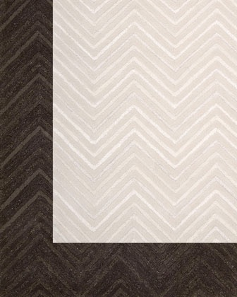 """Dimension Chevron"" Rug by Joseph Abboud at Neiman Marcus."